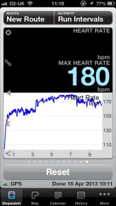 Heart rate as in Runmeter app
