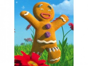 Run run as fast as you can, you can't catch me I'm the Gingerbread Man (Gingerbread Man from Shrek)
