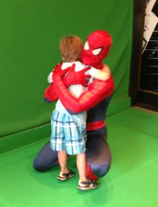 My super man with Spider-Man