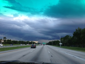 Returning from one of the parks, the weather closed in...