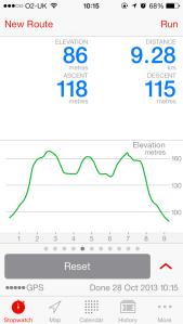 Elevation of run #1