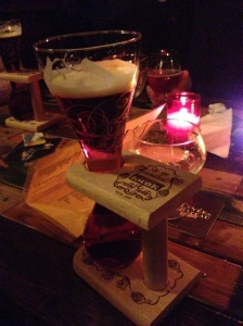 Kwak beer - gimmicky glass but delicious content
