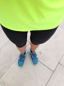 My favourite Nike running capris and high vis top