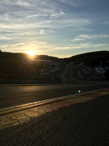 Eau Rouge at sunset